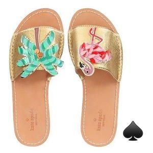 b89913d776a5 kate spade Shoes - Kate Spade Izele  Palm Tree Flamingos  Sandals